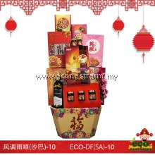 CNY Hamper Double Fortune Series DF(SA)-10   生态礼篮风调雨顺(沙巴)-10