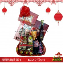 CNY Hamper Double Fortune Series DF(SA)-5   生态礼篮风调雨顺(沙巴)-5