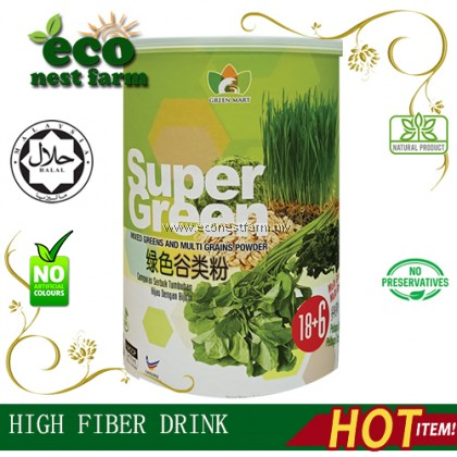 HIGH FIBER SUPER GREEN MULTI GRAINS高纤维绿色谷类即溶粉